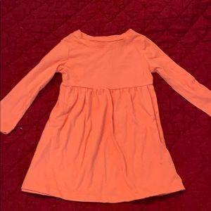 Old Navy Long Sleeve T shirt dress. Tangerine. 2T